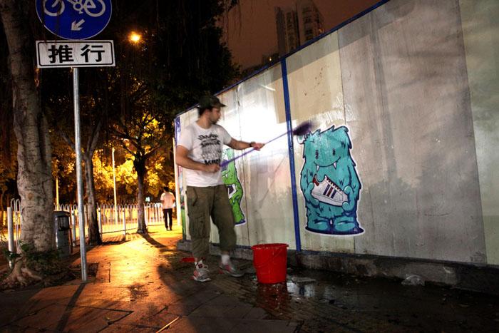 Guangzhou, china, street poster, art, pasting