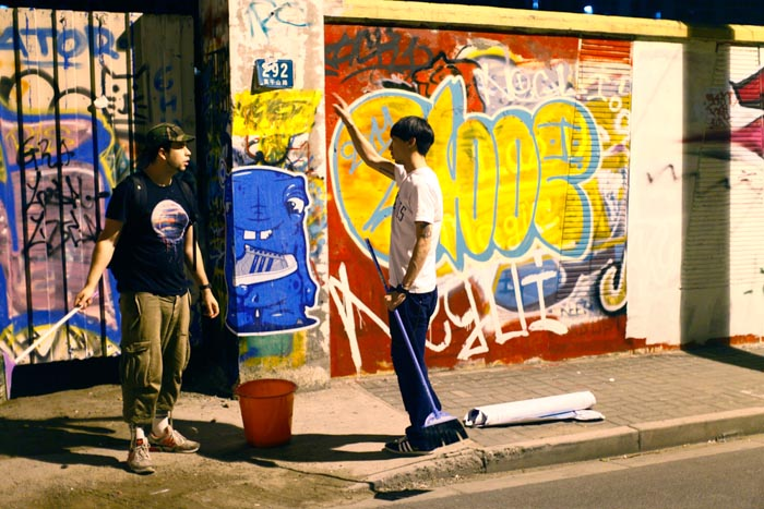 shanghai, china, street poster, art, pasting