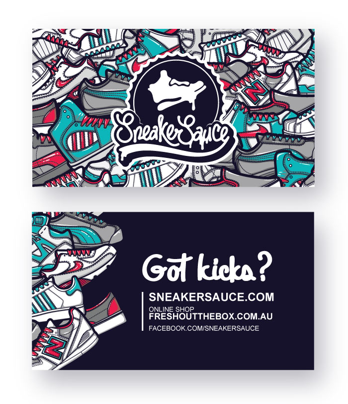 Sneaker, kicks, vector, illustration,business card,