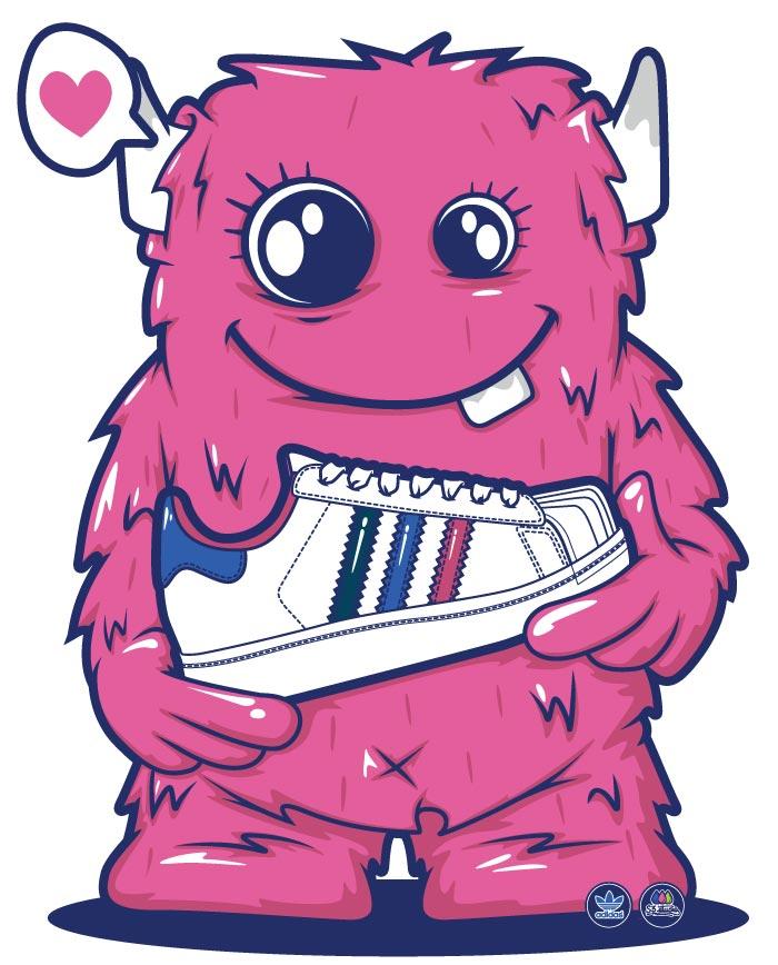 character illustration,monster, vector