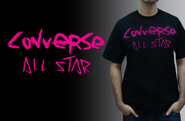 converse t-shirt design all star