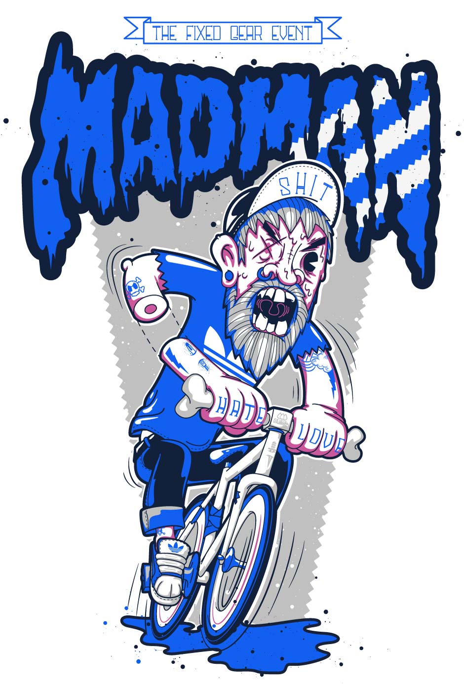 illustration, fixgear, vector, art, character