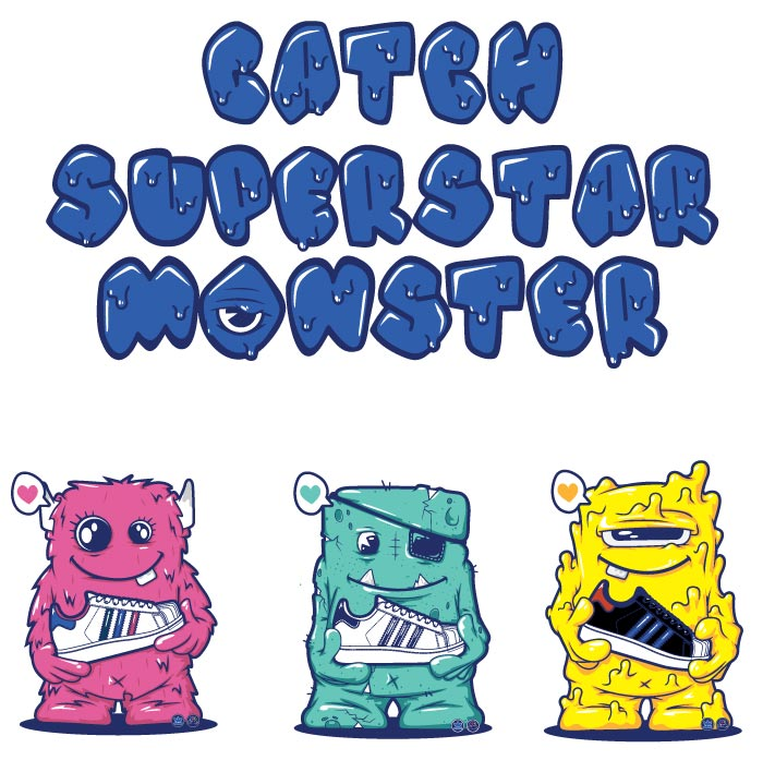 logo,character illustration,monster, vector