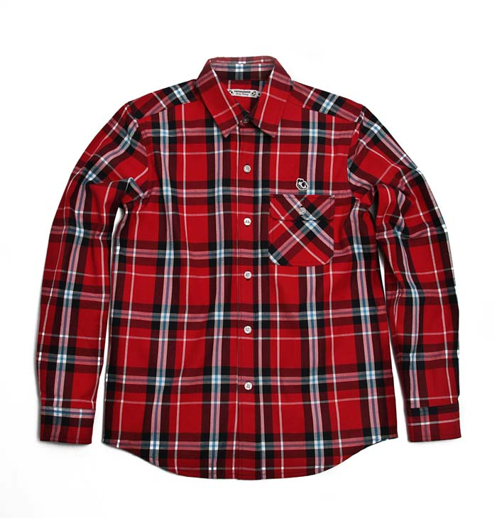shirt, check, pattern, red