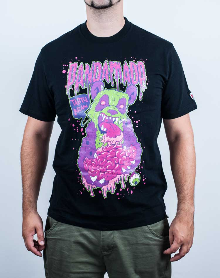 t-shirt, zombie, panda, vertor, artwork