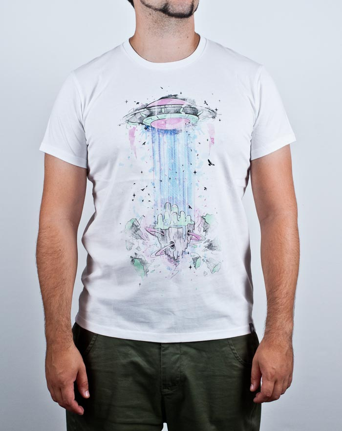 t-shirt, ufo, protected area, illustration, watercolor